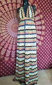 MISSONI vestito Originale taglia 42 Multicolore abito lungo donna Dress Woman