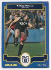 1986 Scanlens (20) Wayne HARMES Carlton Exc/Nm
