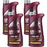4x1 Liter Orignal MANNOL Motoröl SAE 0W-40 LEGEND+ESTER Engine Oil Öl