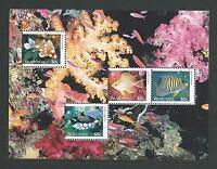 2010 Fish of the Reef mini sheet ex AP Yearbook MUH ML190