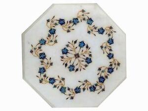 "12 "" Marmor Table Top Halbedelstein Blumenmuster Inlay Marquetry Work"