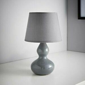 28cm Sophie Table Lamp Bedside Lights/Grey/ UK Stock