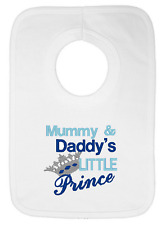 Mummy and Daddy's Little Prince Embroidered Bib by Daisy Chain Embroidery