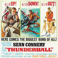 Home Wall Print - Vintage Movie Film Poster - THUNDERBALL 5 - A4,A3,A2,A1