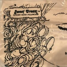 Vintage Sweet Dreams Luxury Satin Pillowcase  NEW Solid Peachy Pink Color