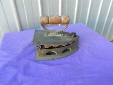 Sad Iron Flat Brass Coal Heated Doorstop Vintage Heavy