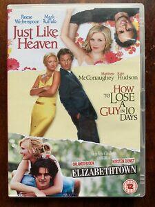 Romcom Triple DVD Elizabethtown Just Like Heaven How To Lose A Guy In 10 Days
