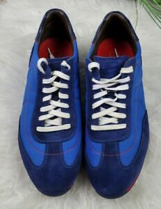 Mens Cole Haan Blue Casual Sneakers Blue Oxfords Lace Up Shoes Size 9