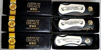 America's Legacy WWII  Knife collection - 3 Knifes-History Channel Club MIB