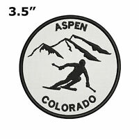"""Aspen, Colorado - Extreme Sports Skier 3.5"""" Embroidered Iron or Sew-on Patch"""