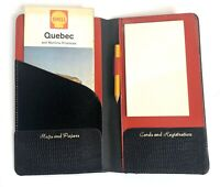 Vintage 1963 Shell Quebec Road Map in Faux Alligator Auto Wallet with Pad Pencil