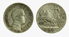 pcc2137_26) Vittorio Emanuele III (1900-1943) 1 Lira 1910 Quadriga Veloce