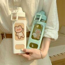 700ml Water Bottle With Straw Sport Plastic Cute School Drinking Bottle Girl DIY