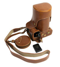 Bottom Opening PU Leather Full Camera Case For Nikon D800 with 24 - 70mm Brown