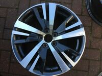 "PEUGEOT 3008 SUV 18"" ALLOY WHEEL RIM 9809687377 7.5J18CH5-49 GENUINE OEM #1"