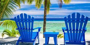 30x60 Large Blue Chair Palm Tree Sea Cruise Vacation Pool Gift Bath Beach Towel