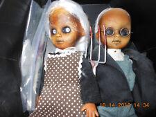 Mezco Toyz Living Dead Dolls American Gothic Dolls Pair Used as is