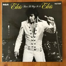 Elvis Presley That's The Way It Is - LP 1971 RCA Victor SF8162 NEAR MINT