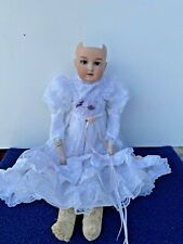 "Antique German Bisque Head Doll Armand Marseille Drgm A.0.M Blue Eyes 19.5"""