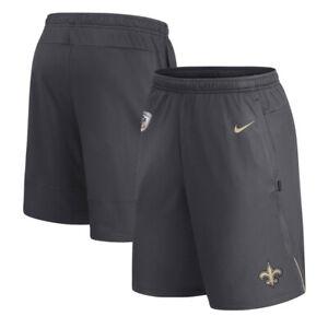 Nike New Orleans Saints Men's 2XL On Field Dry Fit Team Shorts Black NWT