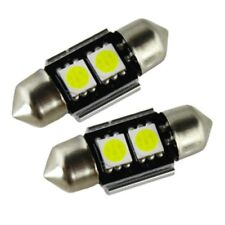 2x 31MM LED FESTOON CANBUS ERROR FREE WHITE NUMBER PLATE BULBS 239 30MM 32MM C5W