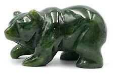 More details for vintage canadian nephrite jade walking bear - superb condition - 5 cm long