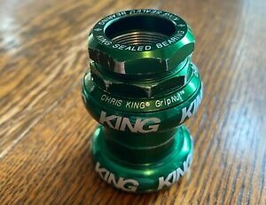 Chris King Grip Nut 1-inch Threaded•  GREEN (discontinued color)