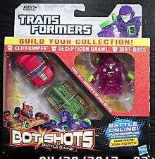 2012 Hasbro Transformers Super Bot Shots Battle Brawl Cliffjumper Dirt Boss NY