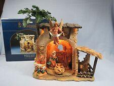 "Rare Fontanini Nativity Scene 5"" Centennial Manger Building + 6 pc Figure Set"