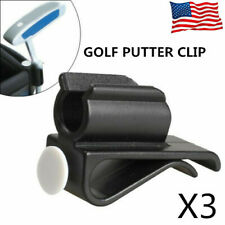 Golf Bag Clip On Putter Clamp Holder Putting Organizer Club Ball Marker 3 Pack