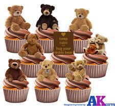 Pack Fête - 36 Ours en Peluche Décoration Comestible Cupcake Anniversaire