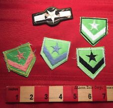 Army Patch Lot (5) Fake Spoof Costume Etc. 4 Similar Are Vtg. CHEAPLY MADE 66WQ