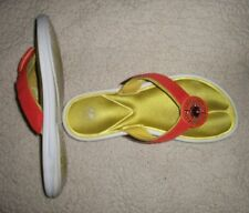 "Womens LINDSAY PHILLIPS ""SWITCHFLOPS"" Orange Fabric Flip-Flop Sandals--Sz 8"