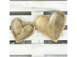Wooden Heart Shaped Plate Rustic 20cm or 15cm plates for all occasions