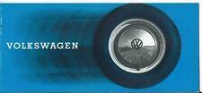 VW Volkswagen Beetle Cabriolet Karman Ghia T2 Truck Campervan Ambulance Brochure