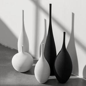 Nordic Vase Minimalism Zen Flower Holder Ceramic Office Tabletop Centerpieces