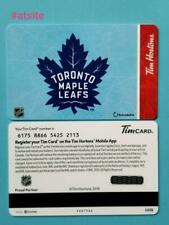 Tim Hortons CANADA 2019 NHL - Toronto Maple Leafs Gift Card New MINT