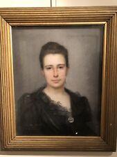 Portrait de Juliette, Pastel Toile 1892 le camus