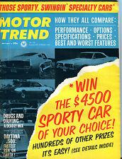Motor Trend Magazine May 1967 Daytona 500 Specialty Cars EX 060916jhe