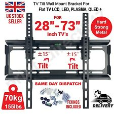 More details for tv wall bracket mount tilt lcd led plasma 28 30 32 40 42 50 upto 73 inch sony lg
