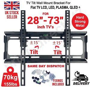 TV WALL BRACKET MOUNT TILT LCD LED PLASMA 28 30 32 40 42 50 UPTO 73 INCH SONY LG