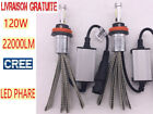 2x 120W 22000LM H4 H7 H11 H1 CREE LED Phare Ampoule Lampe Headlight Blanc 6000K
