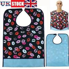 Large Waterproof Adult Mealtime Bib Protector Disability Aid Clothes Washable UK