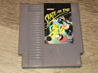 Skate or Die Nintendo Nes Cleaned & Tested Authentic