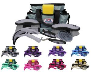 Derby Originals Premium Ringside 8 Item Horse or Pet Grooming Kits with Tote