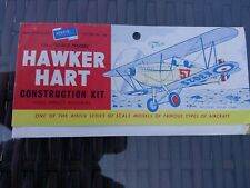 AIRFIX Hawker Hart biplane construction kit leaflet only c1950's Type 1. Gd.cond