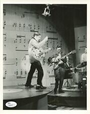 SCOTTY MOORE HAND SIGNED 8x10 PHOTO      WITH ELVIS ON ED SULLIVAN SHOW      JSA