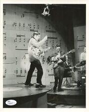 SCOTTY MOORE HAND SIGNED 8x10 PHOTO      WITH ELVIS ON ED SULLIVAN SHOW      JSA