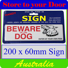 'Beware of Dog' Sign, Gate, Door sign - stick on - LARGE