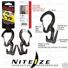 Nite Ize Black Figure 9 Rope Tightener w/ Carabiner C9L